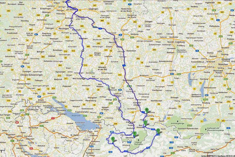 Die Streckenführung zur Saisoneröffnung 2012